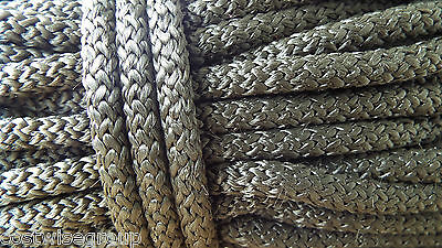 8mm - 10m - Black Braided polypropylene poly rope cord yacht boat sailing