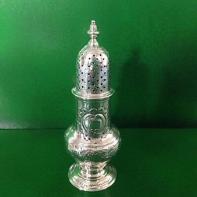 Robert Peaston 1765 Georgian Antique English Sterling Silver Sugar Caster Shaker