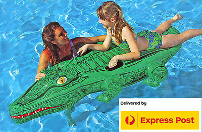 AquaFun Crocodile Ride On 145 x 47cm Floatie / Float / Inflatable - Aqua Fun