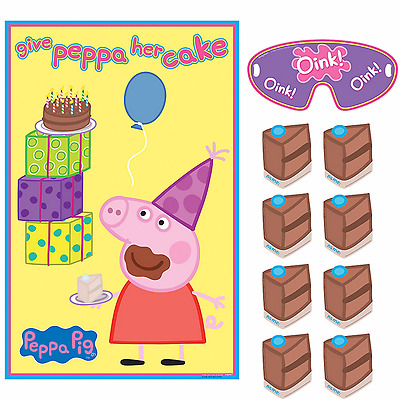 Peppa Pig PARTY GAME Wall Poster Birthday Party Supplies Decoration ~ For 2-8