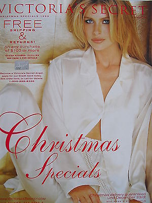 DANIELA PESTOVA Vintage Christmas Specials 1999 Victoria's Secret Catalog
