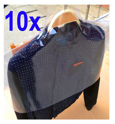 10xPlastic Suit Dress Coat  Garment Jacket Clothes Shoulder Cover Dust Protector