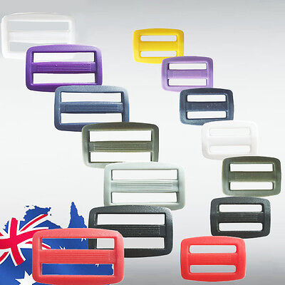 "20pcs 1"" 1.5"" Webbing Buckle Slide Tie Down Sewing Buckles Black Yellow CKBUT69"
