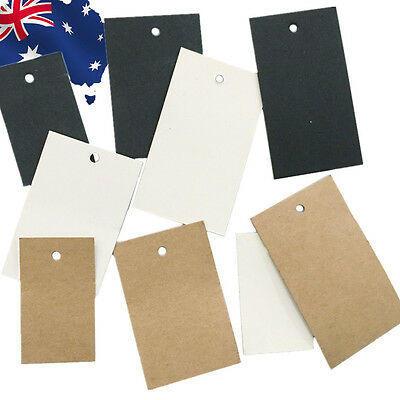 100pcs Plain Clothes Price Tag White Black Brown 5x3cm 6x4cm 7x4cm HNERT30