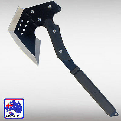 Black Tomahawk Axe Outdoor Camping Survival Tool CF Chop Throwing CF OKNIF2545
