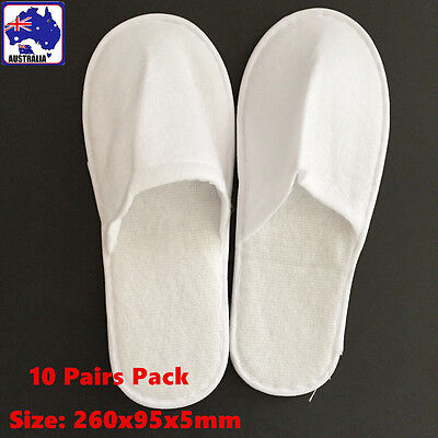 10 Pairs Disposable Cotton Slippers Travel Hotel Guest Slipper CSLIP 1170x10