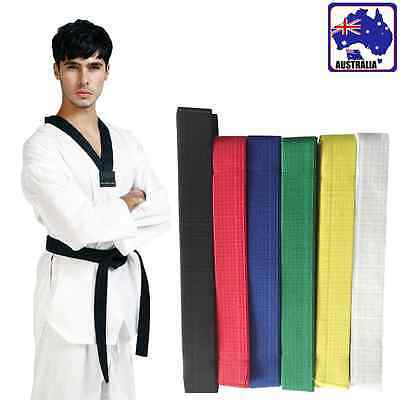Taekwondo Martial Arts Belt Karate Judo Uniform Waistband Strap Sash OGLST 66