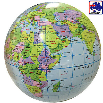Inflatable Inflate Earth Globe Tellurion World Map Ball Geography GITOY 4621
