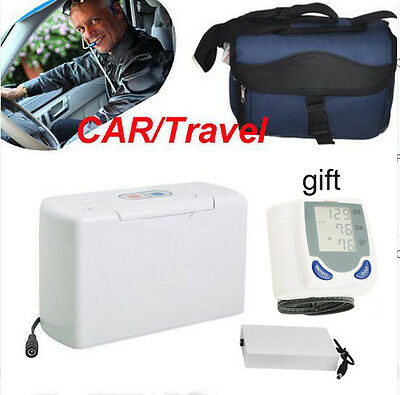 Portable Oxygen Concentrator Generator+battery+Carry Bag + Auto Monitor gift CE