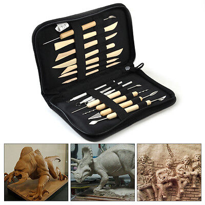 14x Carving Sculpt Wax Pottery Ceramic Modeling Polymer Clay Shaper Tool Craft