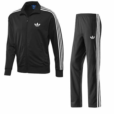 Adidas Originals Firebird Full Tracksuit Mens Black Polyester Sizes S-Xl
