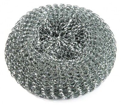 10 x Galvanised Professional Metal Scourers Large Heavy Duty 60gm 100 x 40mm