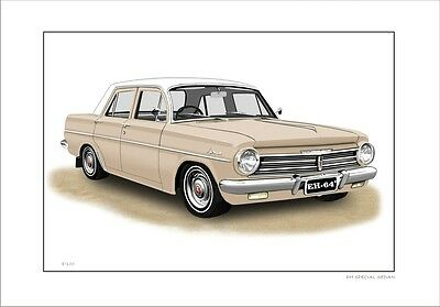 Holden  Eh 179  Special  Sedan     Limited Edition Car Print Automotive Artwork