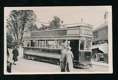 Devon Plymouth TRAM #154 at Outlands Peverell c1930/50s? photograph