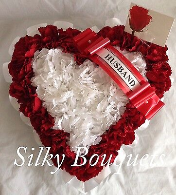 Artificial Silk Funeral Flower Frame Heart Tribute Memorial False Wreath Grave