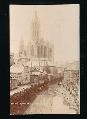 Cornwall TRURO Cathedral & river used 1908 RP PPC