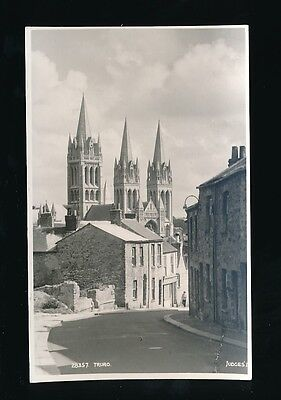 Cornwall TRURO Cathedral & street Judges #28537 RP PPC