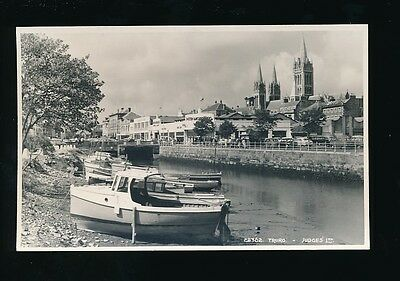 Cornwall TRURO Judges #28362 Cathedral Boats c1950/60s RP PPC