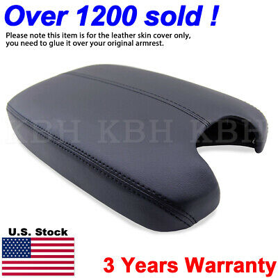 Leather Armrest Center Box Console Lid Cover for Honda Accord 2008-2012 Black