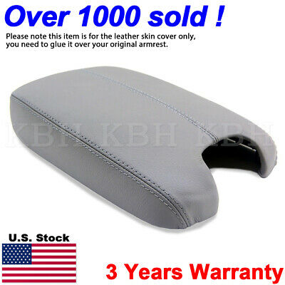 Leather Armrest Center Box Console Lid Cover fit for Honda Accord 2008-2012 Grey