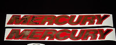 Mercury  boat decals chrome Marine Vinyl Mercury Outboard decals 20 inch