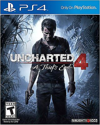 Uncharted 4: A Thief's End (NEW Sony PlayStation 4 Game Disc, PS4 2016)