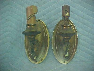 Vintage Brass Candle Style Wall Sconces, for Restore