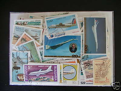 Timbres Transport / Avions : 100 Timbres Tous Differents / Stamps Had