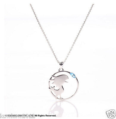 FINAL FANTASY SILVER NECKLACE Chocobo Square Enix Official JAPAN NIB