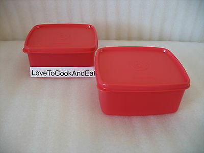 Tupperware Freezer It SMALL Containers Set 2 Fruits Veggies Square Rounds New