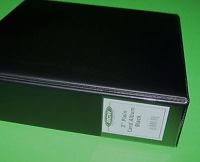 "Bcw 3"" Album / 3 Ring Binder - Plain Black - Retail $8.10 - Holds 90+ Bcw Pages"