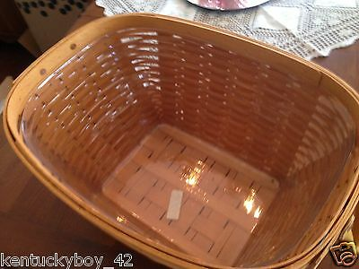 PLASTIC  PROTECTOR (ONLY) for Longaberger Hostess Oval Laundry Basket NEW