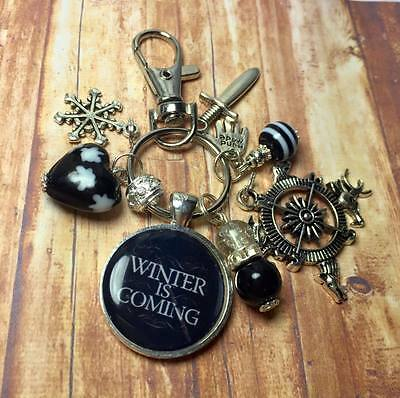 Winter is Coming * Game of Thrones inspired handmade keyring * Free P&P