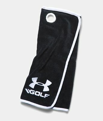 "New - Under Armour UA Golf Towel - 1275474 - Black/White - 20"" x 20"""