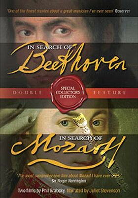 In Search of Mozart / In Search of Beethoven NEW PAL Arthouse 3-DVD Set Grabsky
