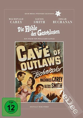 Cave of Outlaws NEW Classic Blu-Ray Disc William Castle Macdonald Carey A. Smith