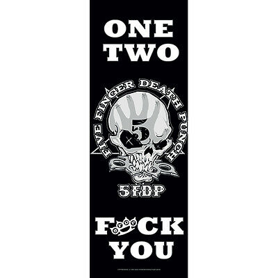 FIVE FINGER DEATH PUNCH One Two F*** U DOOR FLAG Cloth Poster Flag Banner 21x58