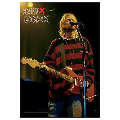 """NIRVANA KURT COBAIN Stage Tapestry Cloth Poster Flag Wall Banner New 30"""" x 40"""""""