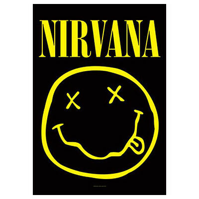 "NIRVANA Smiley Face Tapestry Cloth Poster Flag Wall Banner New 30"" x 40"""