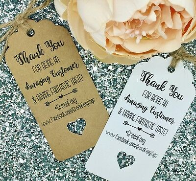 Personalised Thank You Gift Tags / Cards