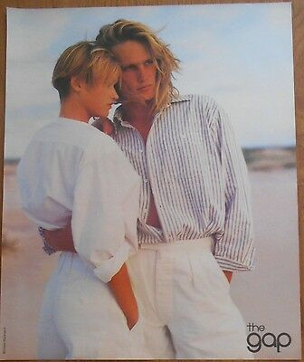 1985 original fashion AD blond couple in Gap clothing