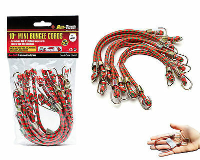 "10 X 10"" Small Bungee Cords Elastic Straps Cycling Motorbike Car Basket Camping"