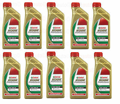 10 Liters 10w60 CASTROL EDGE PROFESSIONAL TWS Synthetic Motor Oil  BMW M3 M5 M6