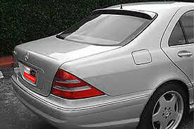 Fits: Mercedes S-Class 1999-2006 Painted Factory Window Mount Rear Spoiler