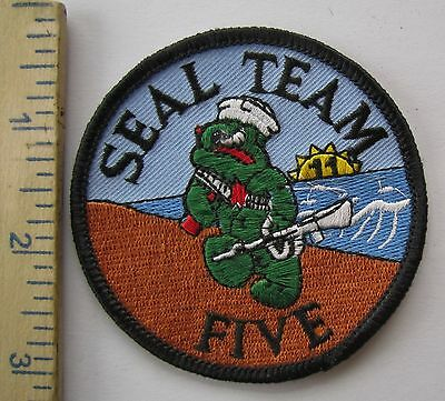 SEAL TEAM FIVE - SOUVENIR U.S. NAVY PATCH Made for VETERANS & COLLECTORS