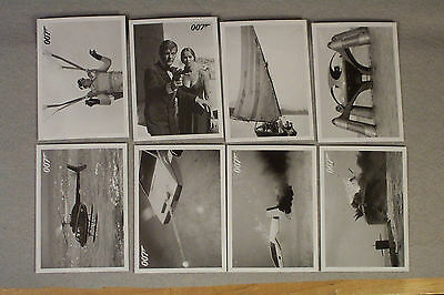 The Spy Who Loved Me 8-card Lot, 8,29,37,48,58,60,61,81 JAMES BOND ARCHIVES 2015