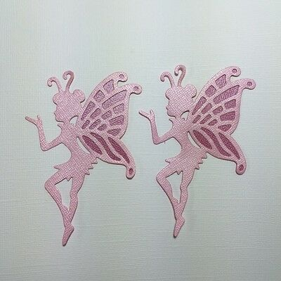 2 Fairy Die Cuts ~ Embellishment ~ Paper Fairies ~ Scrapbooking Fully Assembled
