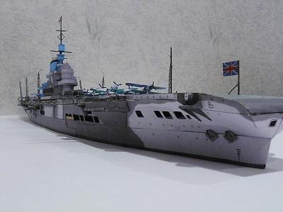 British aircraft carrier superior Paper Model Kit