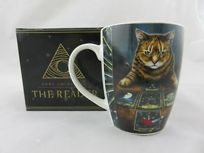 "Lisa Parker ""The Reader"" Cat Tarot Bone China Mug, Fantasy"
