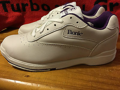 Etonic Right Or Left Handed Womens Us 5.5 Ebasic Kitty Bowling Shoe Purple Trim